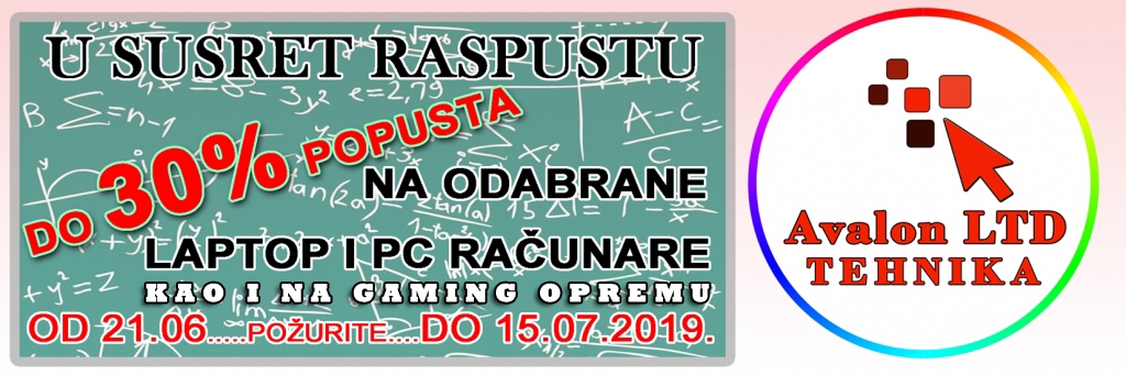 akcija, raspust, avalon ltd, pljevlja, tehnika, gaming