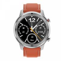 Pametni satovi i oprema - MOYE WATCH DT78 BLACK ORANGE LEATHER STRAP - SILVER WATCH - Avalon ltd pljevlja