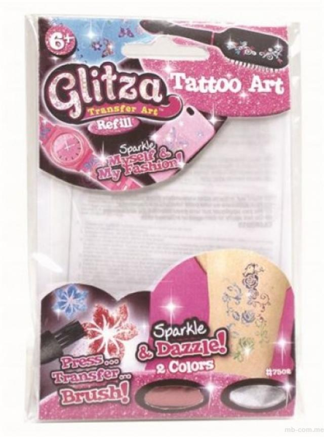 Igračke - Glitza mini set šlokičastih tetovaža - Avalon ltd